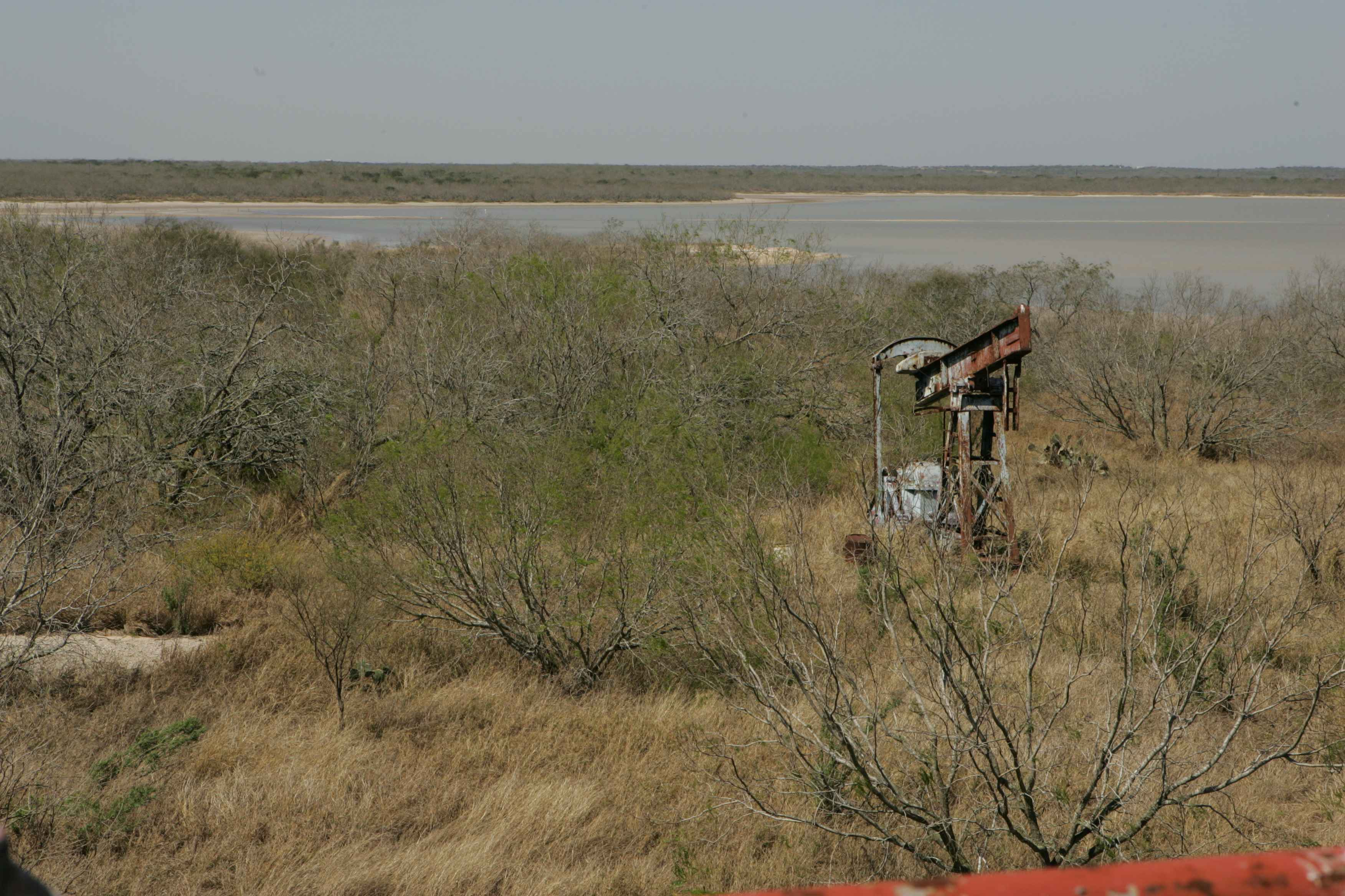 Inoperable pumpjack at an abandoned well in Texas.