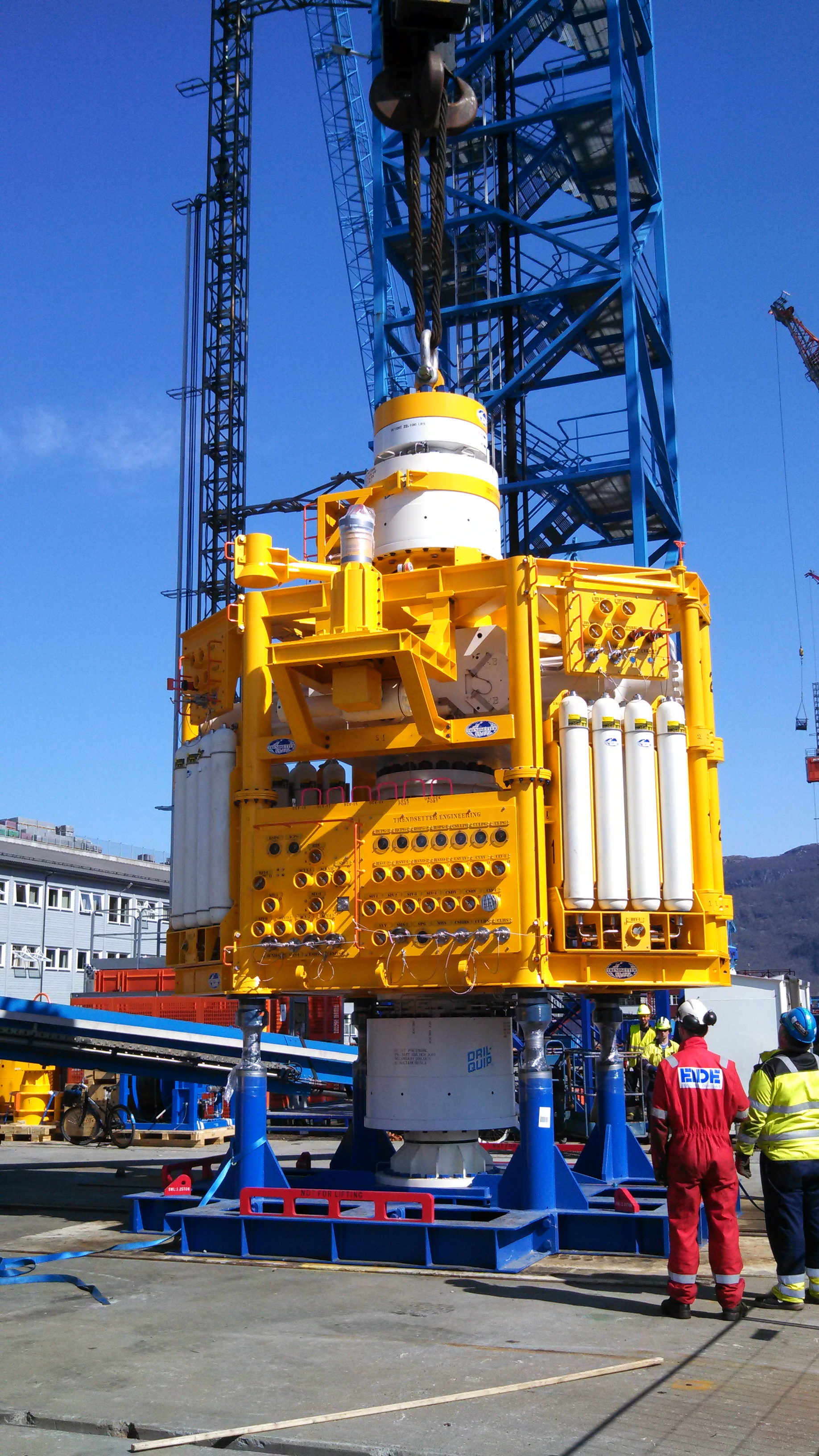 An advanced offshore blowout preventer (BOP).