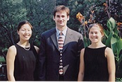 From left to right: Evelyn Kim, David Viator, and Sarah Riggen.