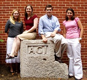 From left to right: Amanda Schneck, 2005 Spring Intern Katie Ackerly, John Vermylen, and Anne Smart.
