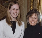 Jenny (left) with California Senator Barbara Boxer.