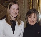 Jenny (left) with California Senator Barbara Boxer.