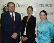 From left to right: OSTP Science Policy Analyst Gene Whitney, and interns Jessica Rowland, and Carrie Donnelly.