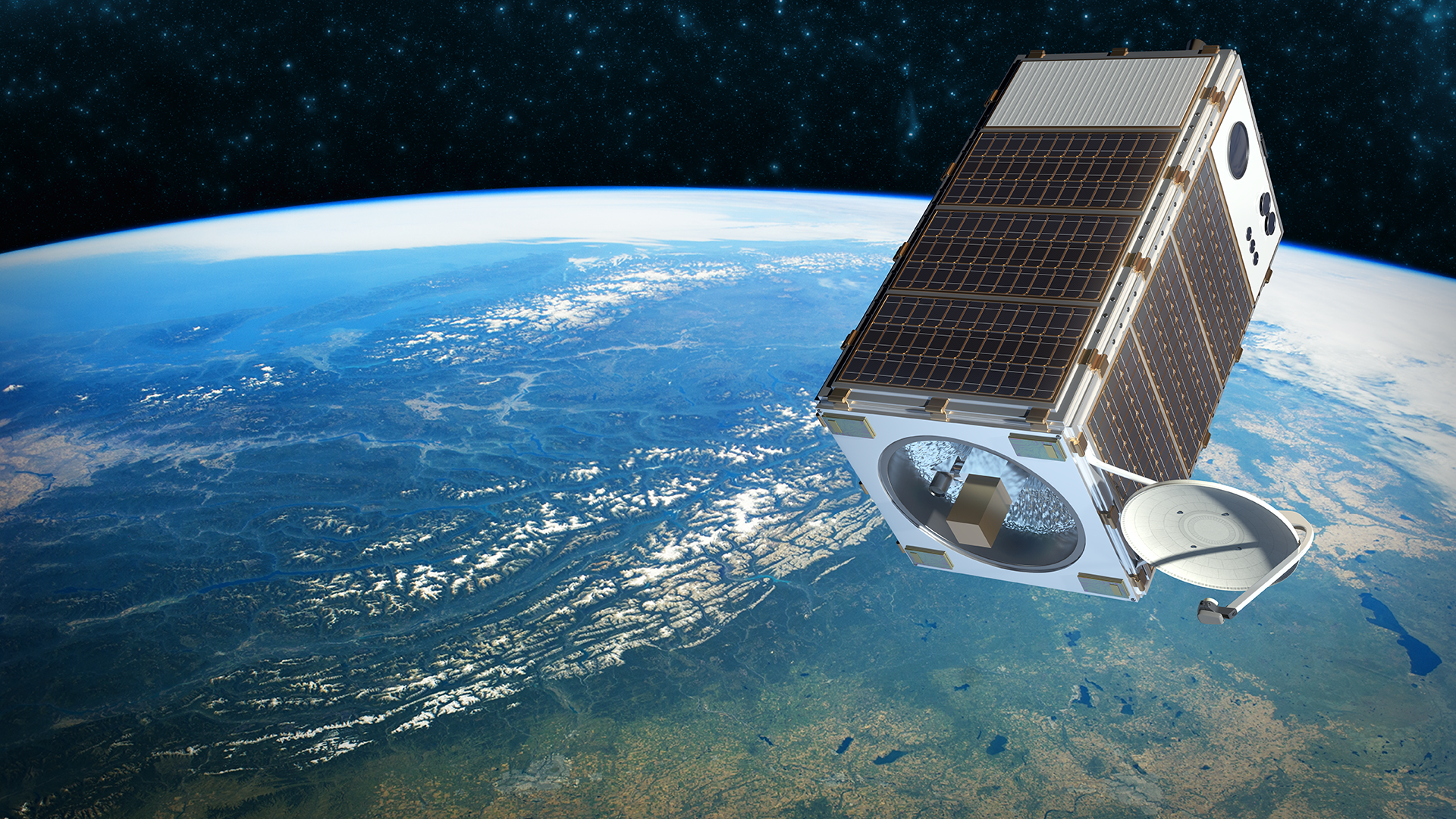 MethaneSAT (artist's impression pictured), a partnership led by the Environmental Defense Fund and launching in 2020 or 2021, will measure methane emissions from fifty major oil- and gas-producing regions around the world.