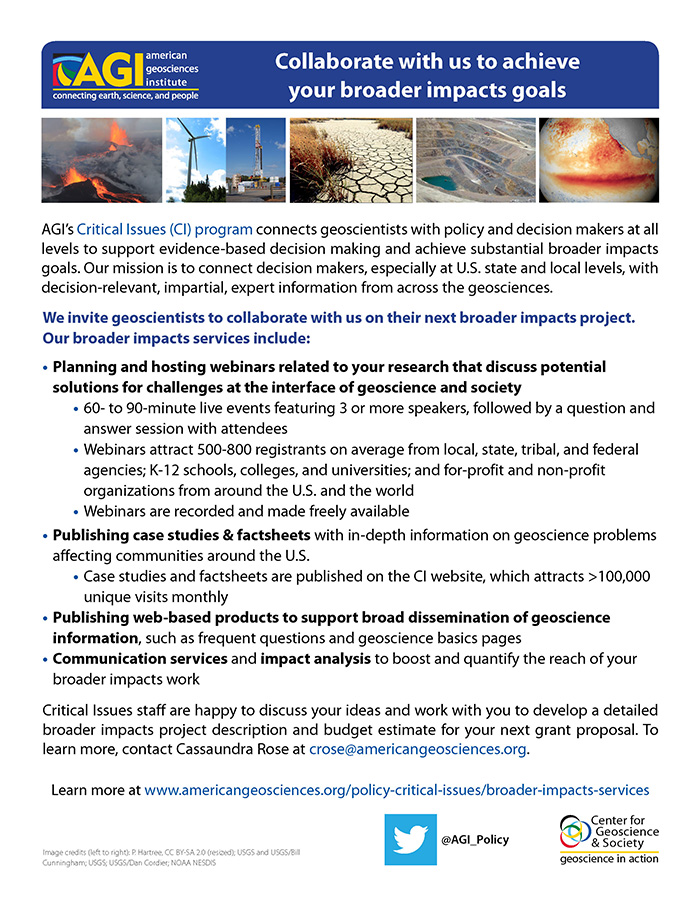 Cover of AGI Critical Issues Broader Impacts Flyer