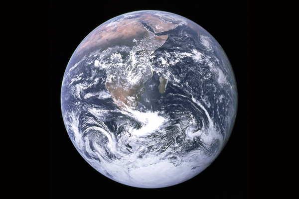 A satellite image of the Earth. Image Credit: NASA