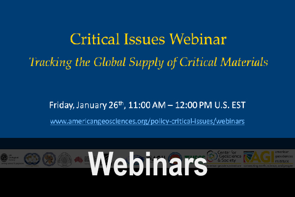 Policy and Critical Issues Webinars (© AGI)