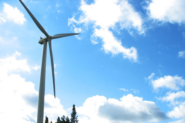 A wind turbine. Image Credit: USGS/Photo by P Cryan