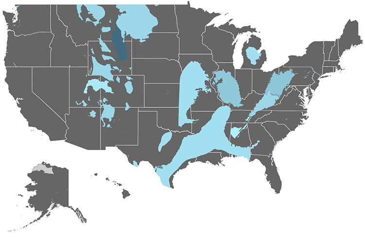 Which States Are The Largest Producers And Consumers Of Coal - Us-coal-reserves-map