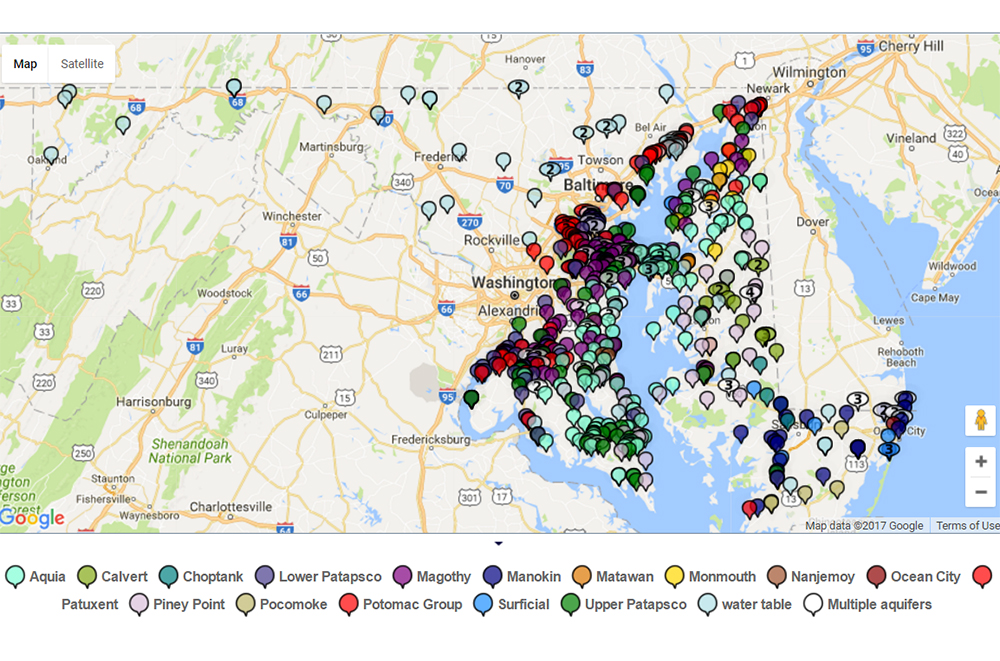 Interactive Map Of Groundwater Levels In Maryland