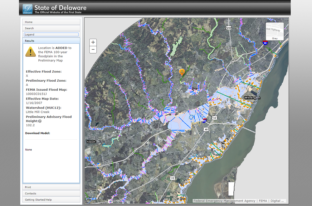 Interactive flood planning tool for Delaware   American Geosciences on