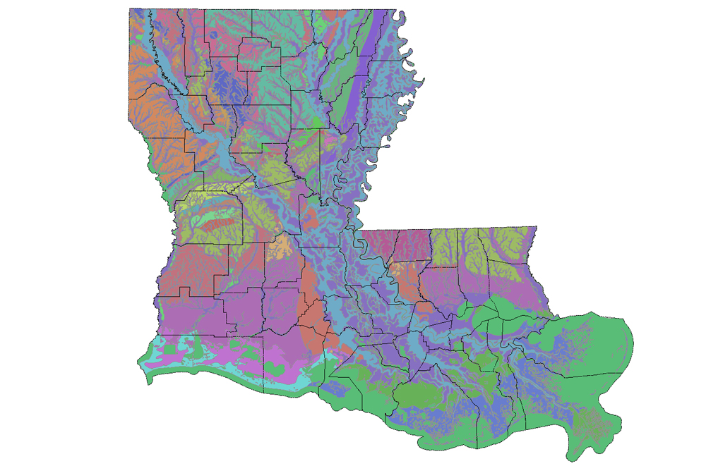 Interactive map of Louisianas geology and water resources