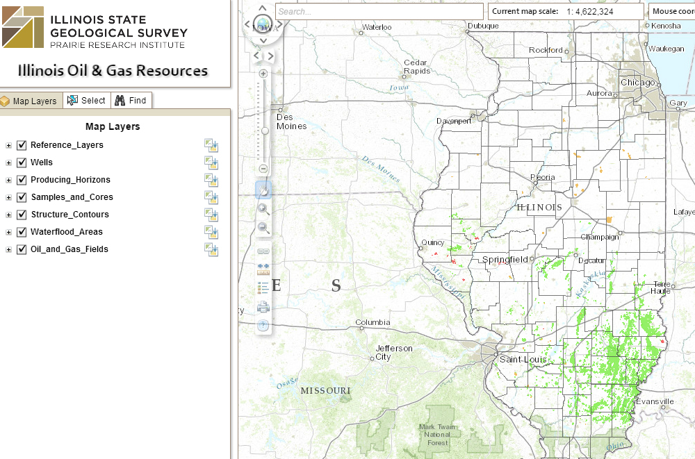 Interactive Map Of Oil And Gas Resources In Illinois American - Map of il