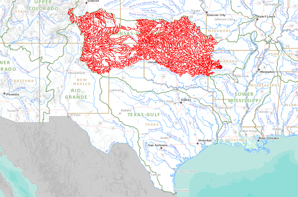 Interactive Map Of Streams And Rivers In The United States - Kansas rivers map