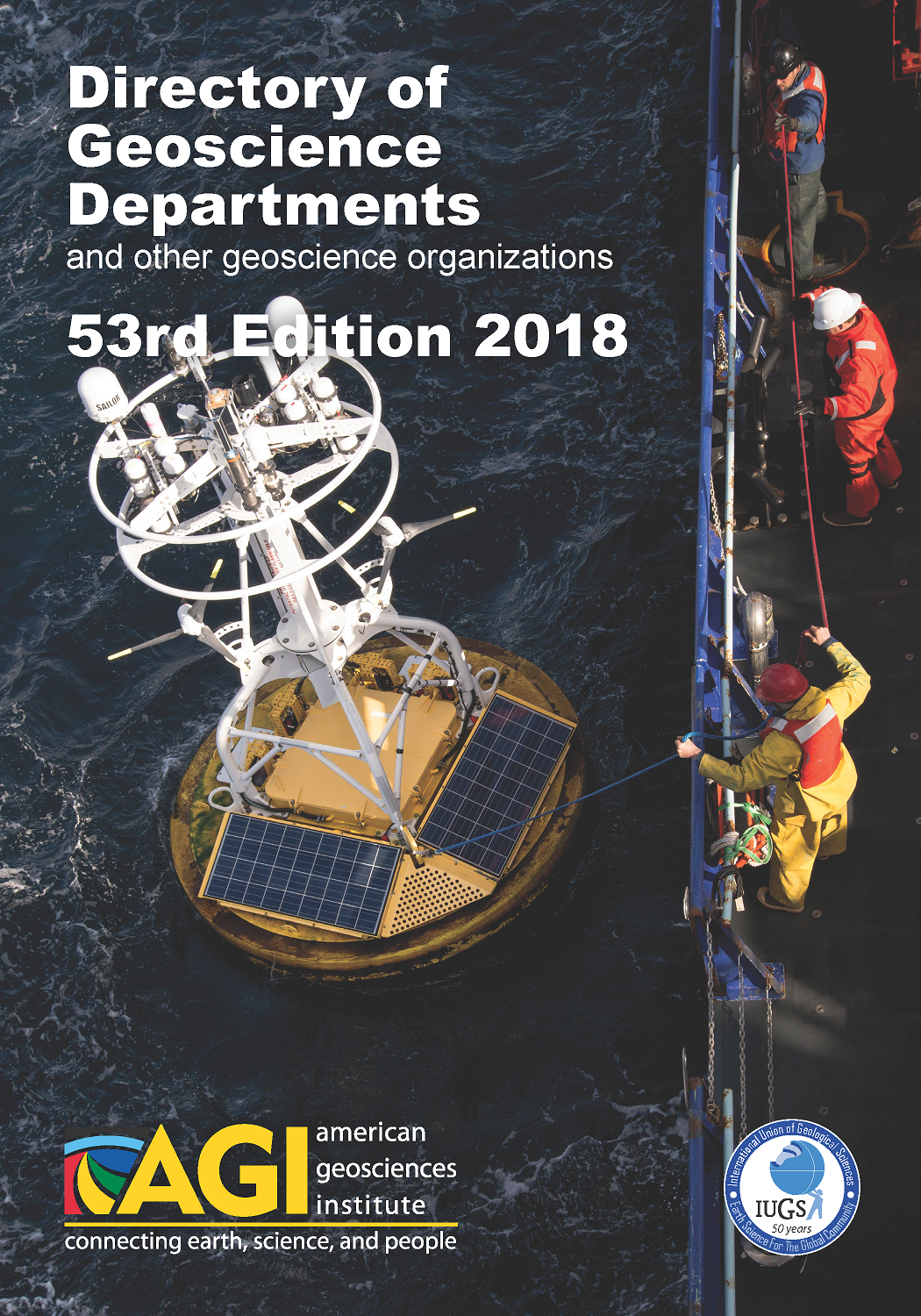 Cover of AGI's Directory of Geoscience Departments.