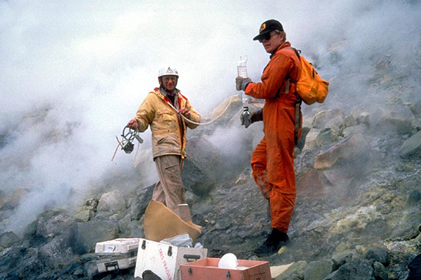 Volcanologists (Photo by Tom Casadevall; Courtesy USGS)