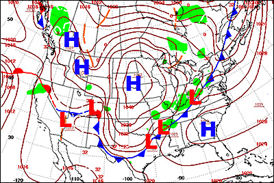 Why Is The Weather Different In High And Lowpressure Areas - Us pressure forecast map