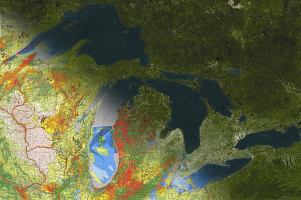 AGI Great Lakes Geologic Mapping Image