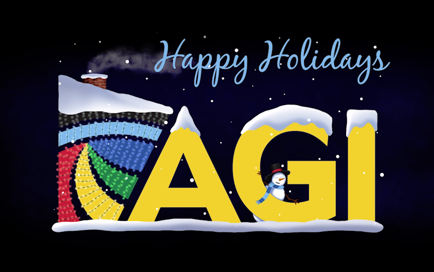 Festive Holiday themed AGI Logo