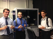 2015 AGI/AIPG Summer Interns Kalev Hantsoo (left), Sam Jacobson (middle), and Archie Creech (right)