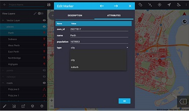 Drop down forms for easy field data collection