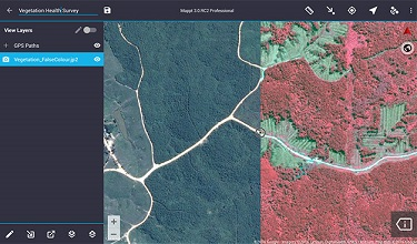 Import unlimited sized satellite, geological, topographic, elevation and other types of imagery in ECW and JP2 format