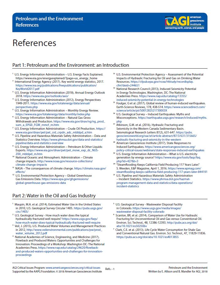 Cover of References