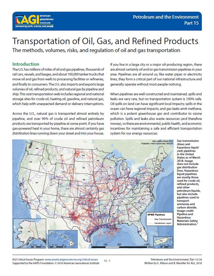 Transportation of Oil, Gas, and Refined Products | American ...