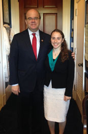 Eliana Perlmutter with her Congressman Jim McGovern (D-MA)