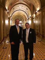 Summer Intern Zachary Schagrin with Senator Bob Casey (D-PA)
