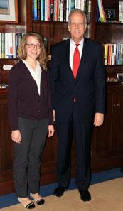 Sophia Ford with Senator Moran
