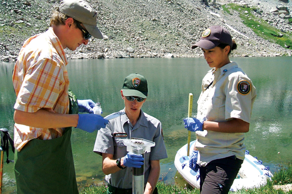 Water quality testing. Image Copyright © Geological Society of America
