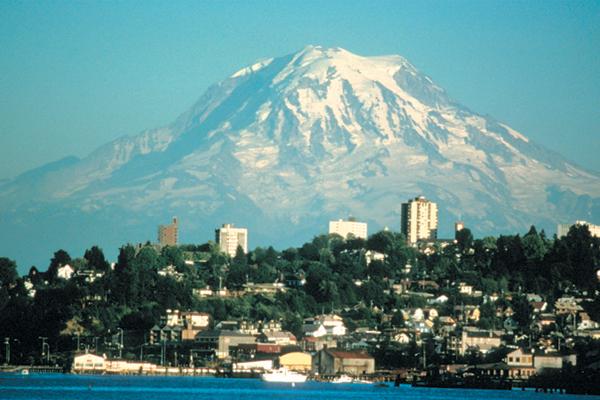 Fig. 2. Mount Rainier threatens Tacoma, WA. Credit: Lyn Topinka, USGS