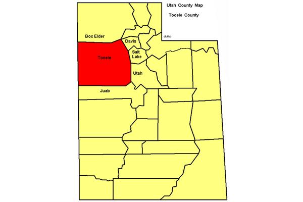 Location of Tooele County, Utah. Image Credit: R. Blauert