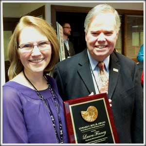 Laura Finney and Pat Leahy