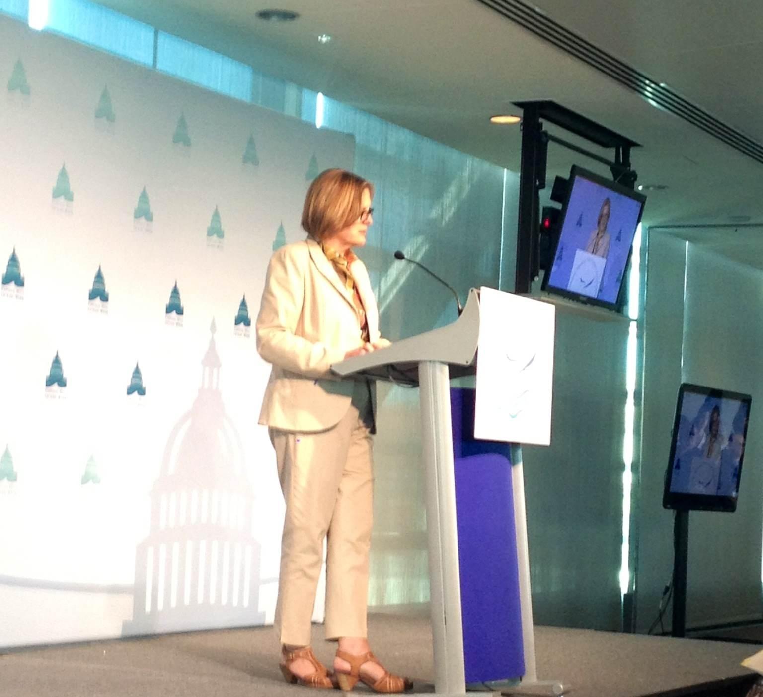 Dr. Kathryn Sullivan speaking