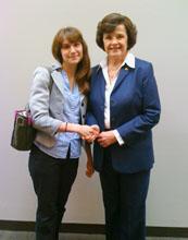 Elizabeth Brown (left) with Senator Dianne Feinstein from California.