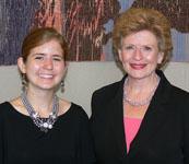 Erica Dalman (left) with Senator Debbie Stabenow from Michigan.