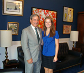 Beth Hoagland with 3rd district Representative John Yarmuth.