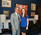Beth Hoagland with 3rd district Representative John Yarmuth.
