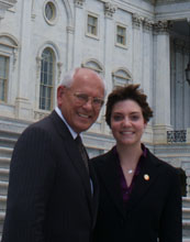 Elizabeth Huss (right) with Representative Paul Tonko from New York.