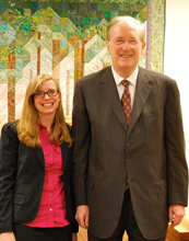 Mollie Pettit (left) with Senator Jay Rockefeller from West Virginia.