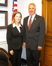 Krista Rybacki with 19th district Representative John Shimkus.