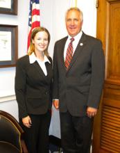 Krista Rybacki with 19th district Representative John Shimkus.