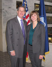 Dana Thomas (right) with Senator David Vitter of Louisiana.