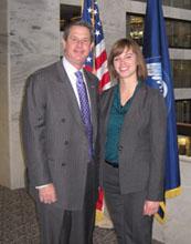 Dana Thomas (right) with Senator David Vitter of Louisiana.