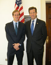 Matt Ampleman(left) with Representative Russ Carnahan from Missouri.