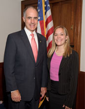 Lauren Herwehe (right) with Senator Robert Casey from Pennsylvania.