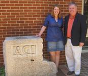 Maureen Moses (left) with AGI Executive Director Pat Leahy.