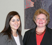 Stephanie Praus (left) with Senator Debbie Stabenow from Michigan.